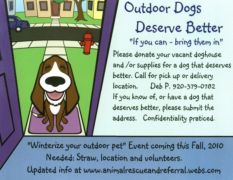 Animal Rescue And Referral Go Green For Outdoor Dogs